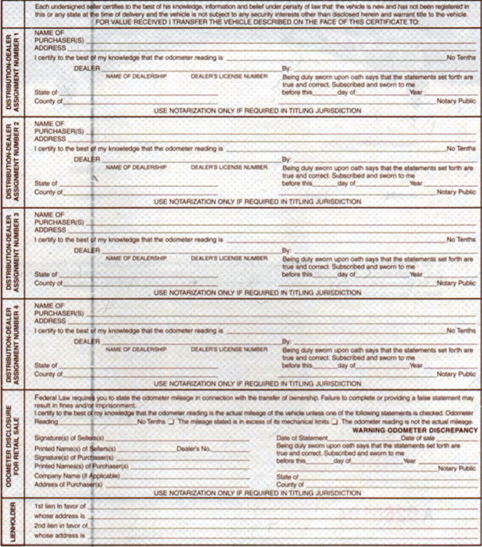 BOAT MCO MSO Certificate of Origin – Certificate of Origin Sample