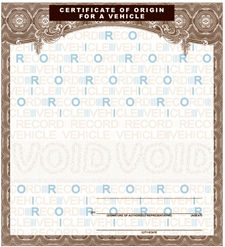 VEHICLE MCO / MSO Form for motorcycles, cars, trailers ...
