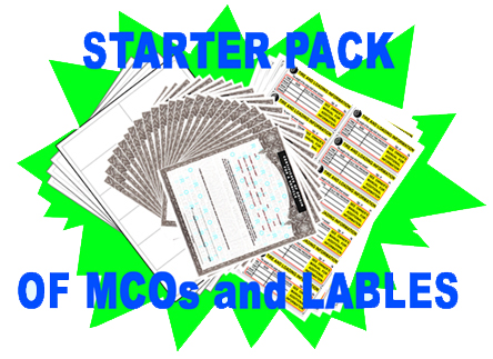 Starter Pack MCOs VIN labels